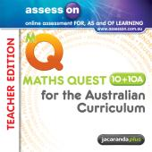 ASSESSON MATHS QUEST 10+10A AUSTRALIAN CURRICULUM TEACHER EDITION (REGISTRATION CARD)