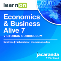 JACARANDA ECONOMICS & BUSINESS ALIVE 7 VICTORIAN CURRICULUM LEARNON EBOOK