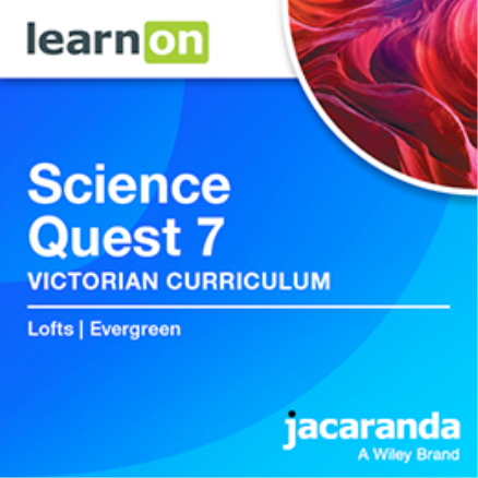 JACARANDA SCIENCE QUEST 7 VICTORIAN CURRICULUM LEARNON EBOOK