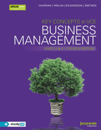 KEY CONCEPTS IN VCE BUSINESS MANAGEMENT UNITS 3&4 4E & EBOOKPLUS (INCL STUDYON)