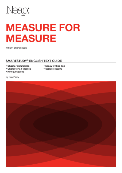 buy book   neap smartstudy measure for measure  lilydale books neap smartstudy measure for measure