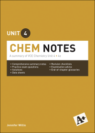 A+ CHEM NOTES VCE UNIT 4 (4E)