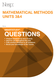 NEAP SMARTSTUDY QUESTIONS: MATHEMATICAL METHODS UNITS 3&4 EBOOK (No printing or refunds. Check product description before purchasing)