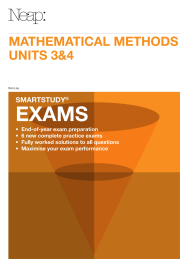 NEAP SMARTSTUDY EXAMS: MATHEMATICAL METHODS UNITS 3&4 EBOOK (No printing or refunds. Check product description before purchasing)