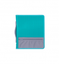 2 RING BINDER A4 25MM WITH ZIPPER WITH HANDLE AND POCKET