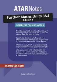 ATAR NOTES: VCE FURTHER MATHS UNITS 3&4 COMPLETE COURSE NOTES 1E
