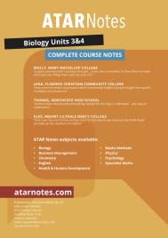 ATAR NOTES: VCE BIOLOGY UNITS 3&4 COMPLETE COURSE NOTES 3E