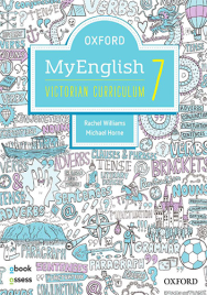 OXFORD MYENGLISH 7 VICTORIAN CURRICULUM STUDENT BOOK + OBOOK + UPSKILL