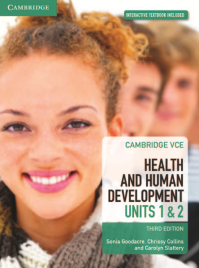 CAMBRIDGE VCE HEALTH AND HUMAN DEVELOPMENT UNITS 1&2 TEXTBOOK + EBOOK 3E