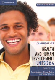 CAMBRIDGE VCE HEALTH AND HUMAN DEVELOPMENT UNITS 3&4 TEXTBOOK + EBOOK 3E