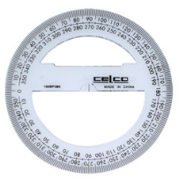 PROTRACTOR 360 DEGREE 10 CM