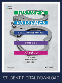 JUSTICE & OUTCOMES VCE LEGAL STUDIES UNIT 3&4 OBOOK/ACCESS 14E