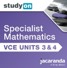 STUDYON VCE SPECIALIST MATHS UNITS 3&4 EBOOK