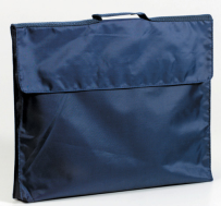 LIBRARY BOOK BAG NAVY BLUE