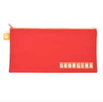 PENCIL CASE STURDY ZIP 340 X 170 MM LARGE NAME