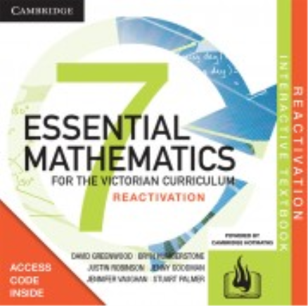 Buy Book - CAMBRIDGE ESSENTIAL MATHEMATICS FOR THE VIC YEAR 7