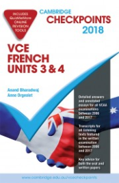 CHECKPOINTS VCE FRENCH UNITS 3&4 2018 - 2019 + QUIZ ME MORE