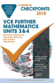 CHECKPOINTS VCE FURTHER MATHEMATICS UNITS 3&4 2018 + QUIZ ME MORE