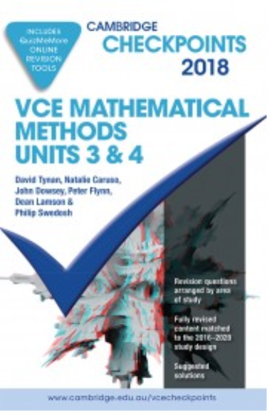 Buy book checkpoints vce maths methods units 34 2018 quiz me checkpoints vce maths methods units 34 2018 quiz me more fandeluxe Images