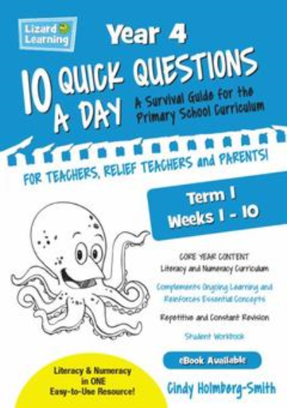 10 QUICK QUESTIONS A DAY YEAR 4: TERM 1