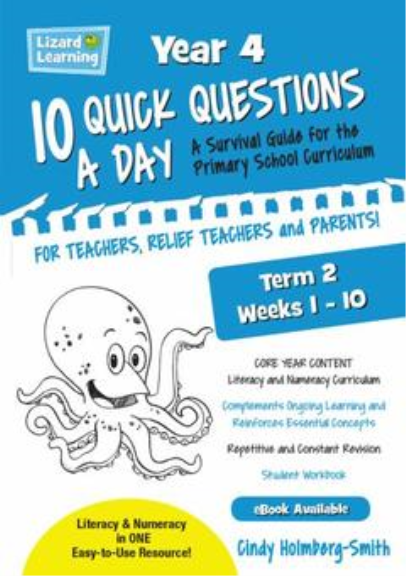 10 QUICK QUESTIONS A DAY YEAR 4: TERM 2
