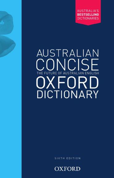 Buy Book - AUSTRALIAN CONCISE OXFORD DICTIONARY 6E ...