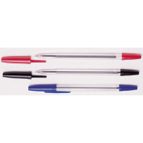 3 PACK BALLPOINT PENS (RED, BLACK & BLUE)