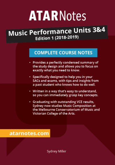 ATARNOTES MUSIC PERFORMANCE UNITS 3&4 NOTES