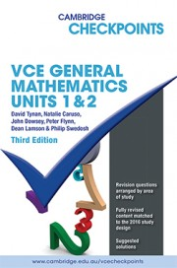 CHECKPOINTS VCE GENERAL MATHEMATICS UNITS 1&2