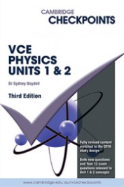 CHECKPOINTS VCE PHYSICS UNITS 1&2