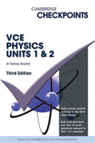Buy Book - CHECKPOINTS VCE PHYSICS UNITS 1&2 | Lilydale Books