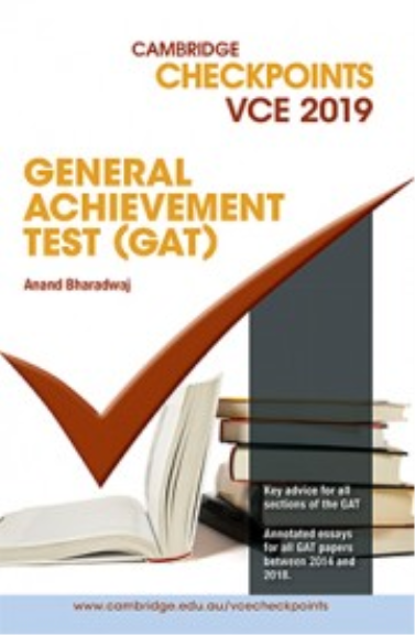 Buy Book - CAMBRIDGE CHECKPOINTS VCE GENERAL ASSESSMENT TEST