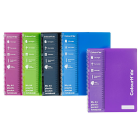 COLOURHIDE MY PLASTIC POCKET NOTEBOOK A4 WITH POCKETS 120 PAGE ASSORTED COLOURS