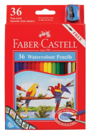 36 FABER CASTELL WATERCOLOUR PENCILS
