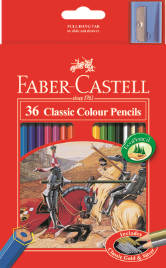 36 FABER CASTELL CLASSIC COLOUR PENCILS