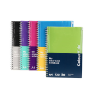COLOURHIDE MY CLEAR CASE NOTEBOOK A4 120 PAGE ASSORTED COLOURS