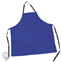 ART APRON BLUE WITH POCKETS