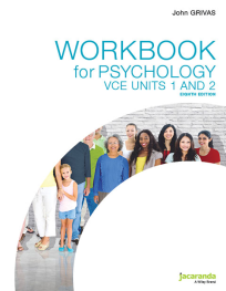 JACARANDA WORKBOOK FOR PSYCHOLOGY VCE UNITS 1&2 8E