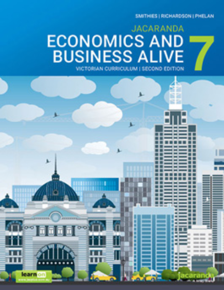 JACARANDA ECONOMICS & BUSINESS ALIVE 7 VICTORIAN CURRICULUM LEARNON EBOOK 2E