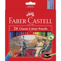 24 FABER CASTELL CLASSIC COLOUR PENCILS