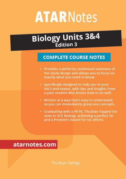 Buy Book - ATARNOTES VCE BIOLOGY UNITS 3&4 NOTES 3E