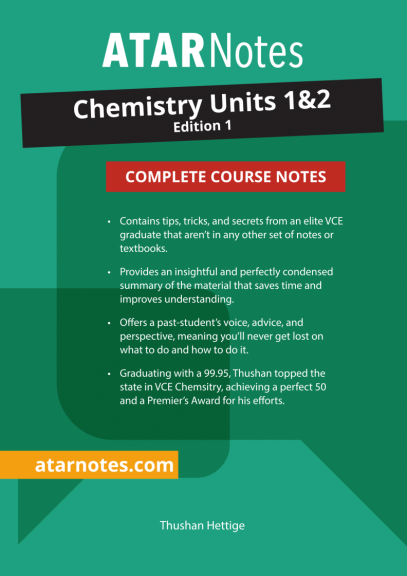 Buy Book - ATARNOTES VCE CHEMISTRY UNITS 1&2 NOTES 1E