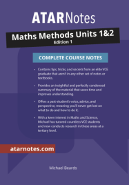 ATARNOTES VCE MATHS METHODS UNITS 1&2 NOTES 1E