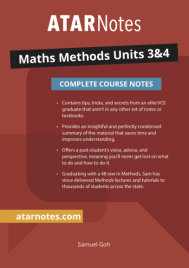 ATARNOTES VCE MATHS METHODS UNITS 3&4 NOTES 1E