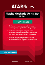 ATARNOTES VCE MATHS METHODS UNITS 3&4 TOPIC TESTS