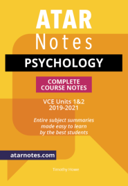 ATARNOTES VCE PSYCHOLOGY UNITS 1&2 NOTES 1E