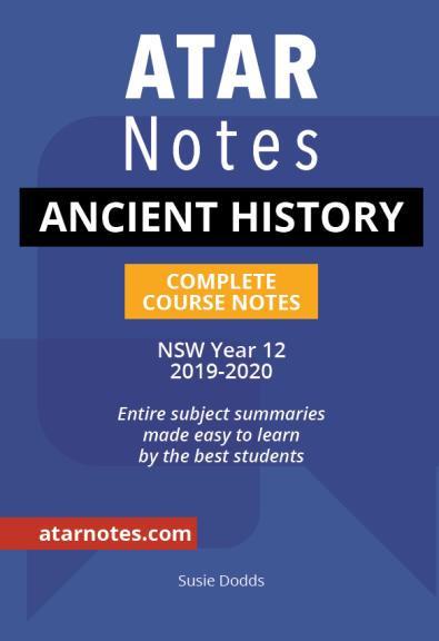 Buy Book - ATAR NOTES HSC: ANCIENT HISTORY YEAR 12 NOTES