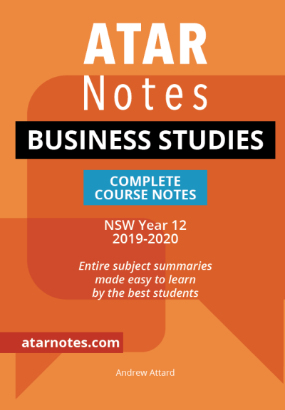 Buy Book - ATAR NOTES HSC: BUSINESS STUDIES YEAR 12 NOTES