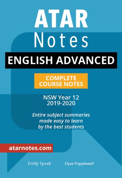 Buy Book - ATAR NOTES HSC: ENGLISH ADVANCED YEAR 12 NOTES