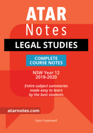 ATAR NOTES HSC: LEGAL STUDIES YEAR 12 NOTES